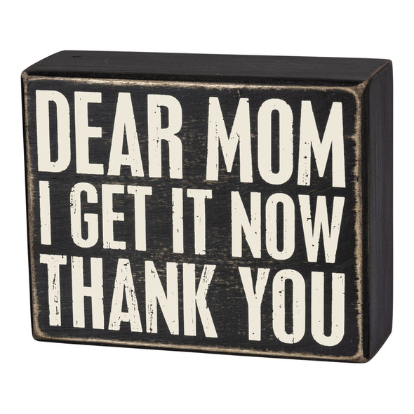 Dear Mom Box Sign