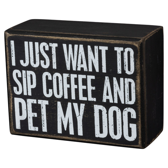 Coffee and Dog Box Sign