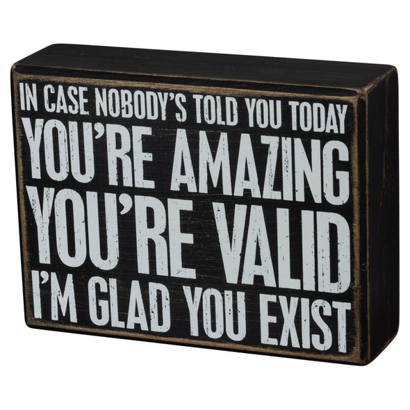 You're Amazing Box Sign