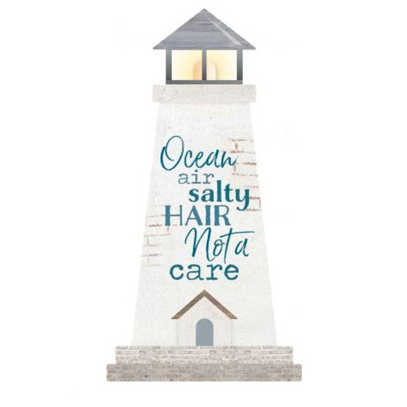 Ocean Air Lighthouse Small Shape Sign