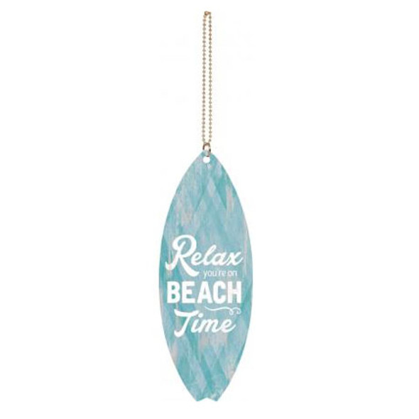 Relax You're on Beach Time Car Charm