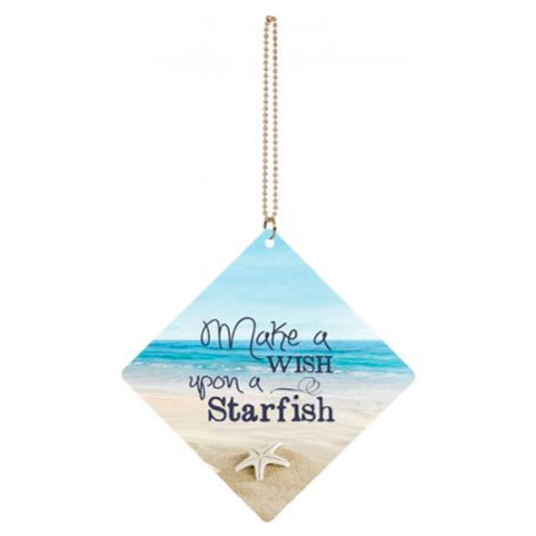 Make a Wish Upon a Starfish Car Charm