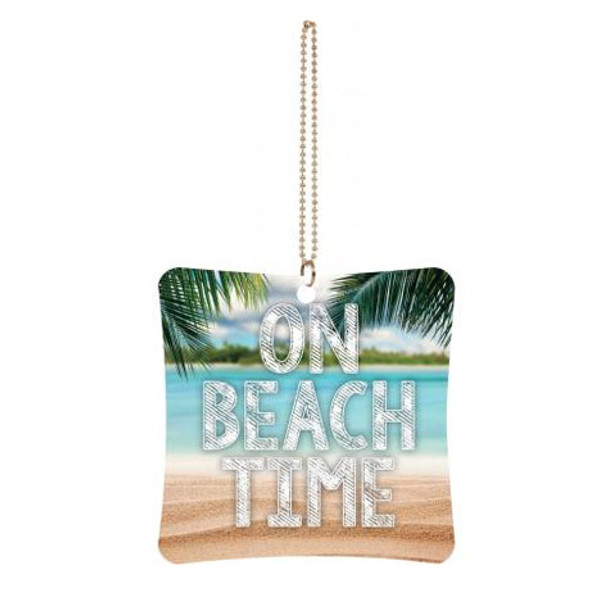 On Beach Time Car Charm