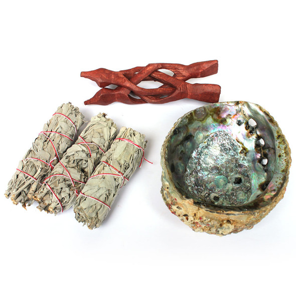 "5-6""  Abalone Smudge Kit"