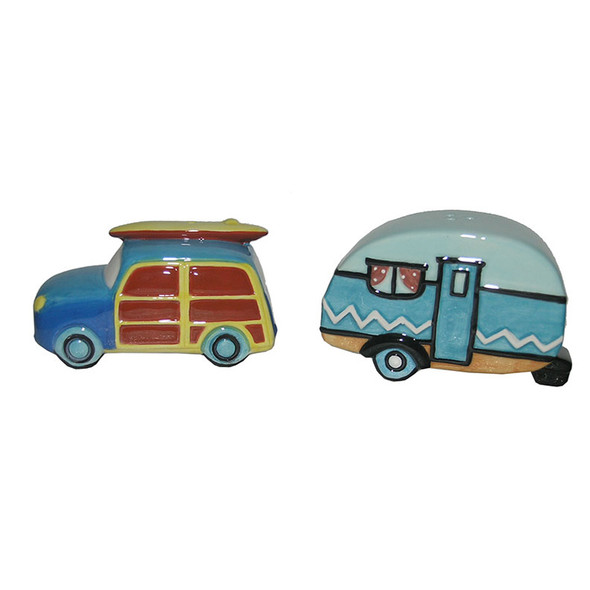 Woody & Camper Salt & Pepper Shakers