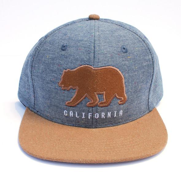 Blue Cali Bear Hat