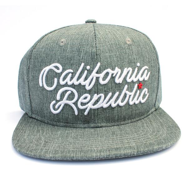 Gray California Republic Hat