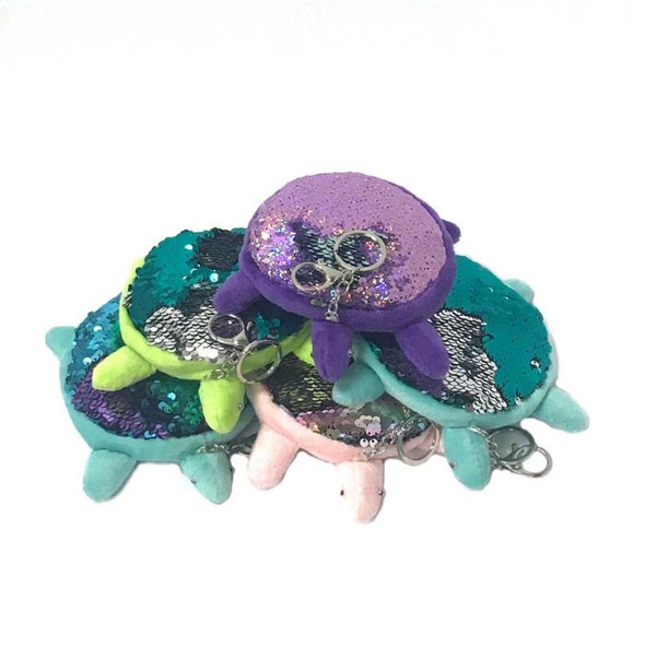 Sequin Turtle Keychains