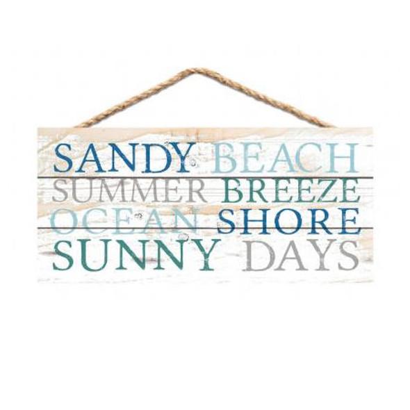 Sandy Beach Words Sign