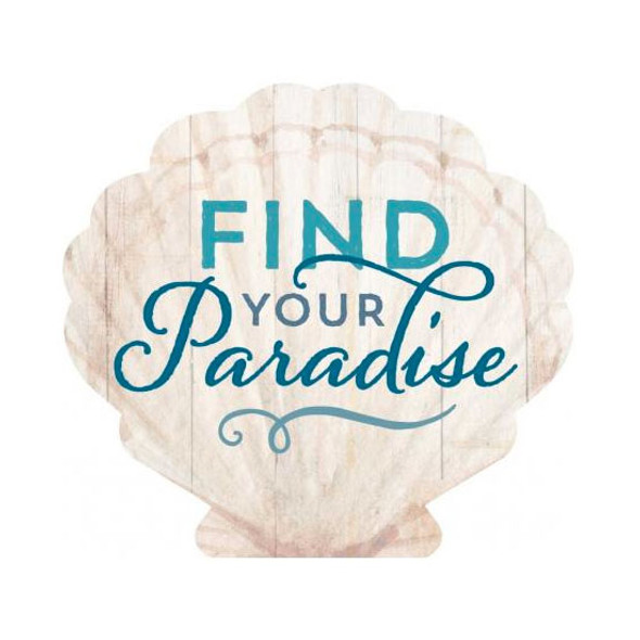 Find Your Paradise Scallop Shell