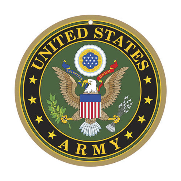 Military Army Logo Round Sign