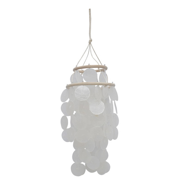 White Capiz Chandelier Chime