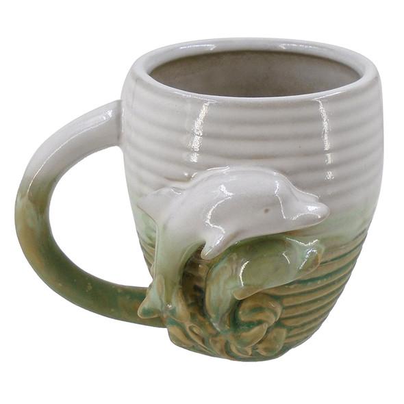 Green Dolphin Stoneware Mug