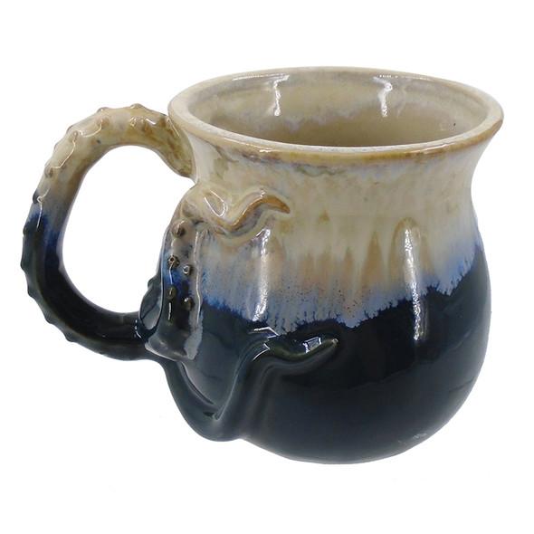 Blue Octopus Stoneware Mug