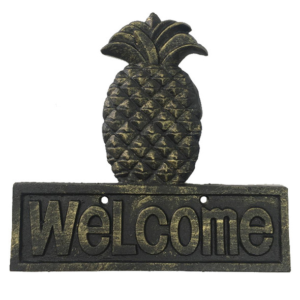 Pineapple Welcome Plaque