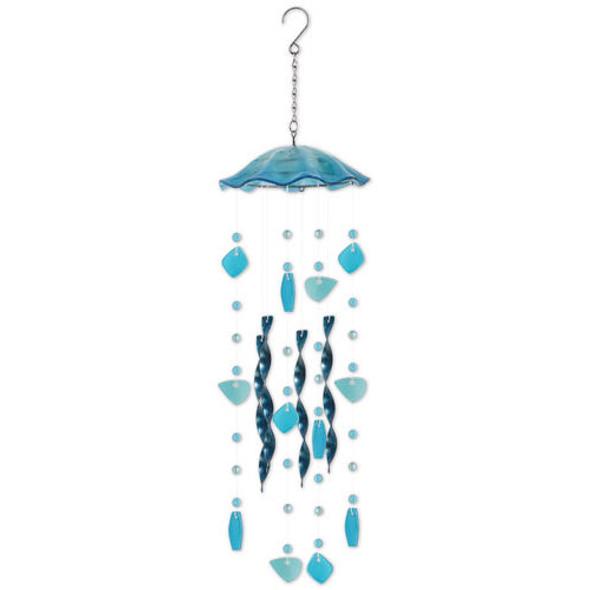 Blue Jellyfish Windchime