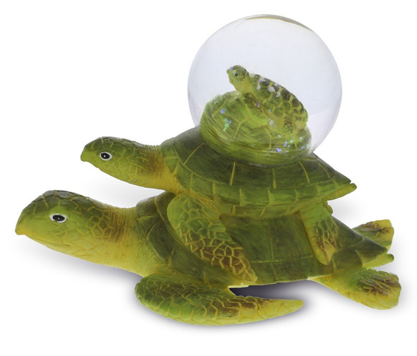 Sea Turtle Stacked Snow Globe