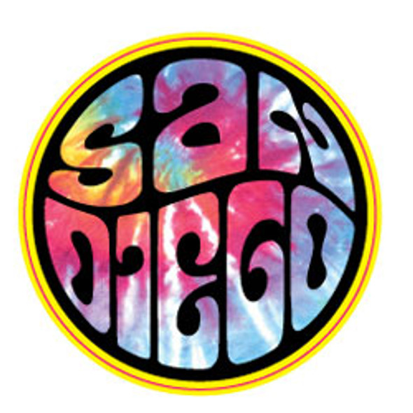 San Diego Circle City Sticker - 2 Dozen (6 Colors)