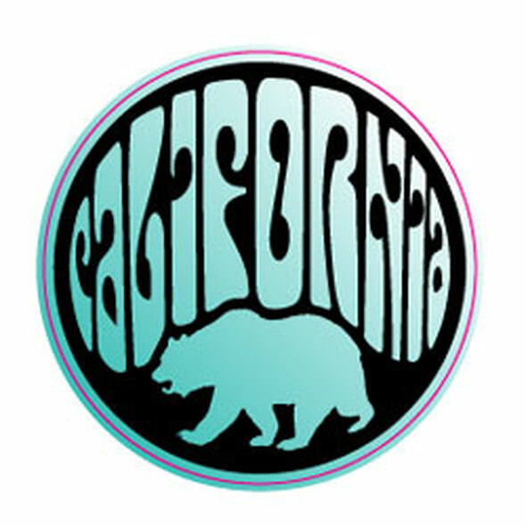California Bear Circle Sticker