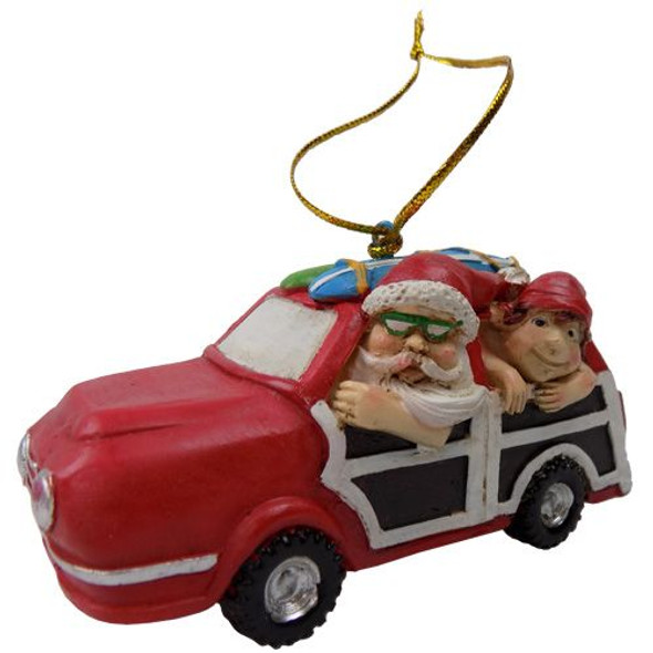 Santa Elf & Woody Ornament