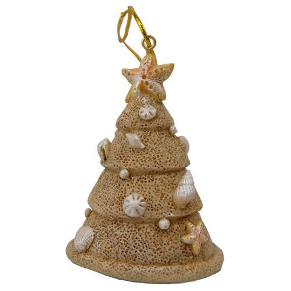 Sand & Shell Resin Tree Ornament