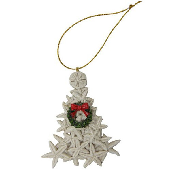 Starfish Tree with Wreath Ornament