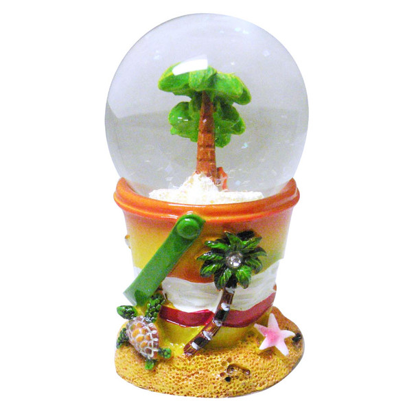 Palm Tree Beach Pail Snow Globe