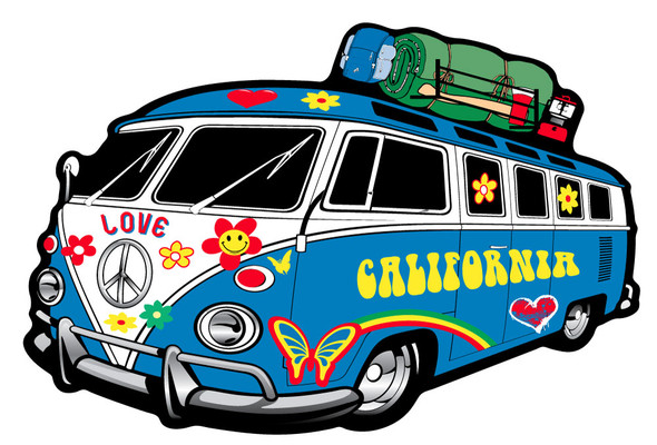 California Hippie Bus