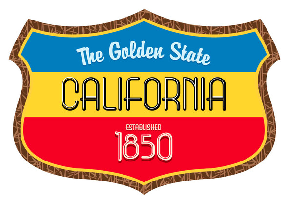 California The Golden State Shield