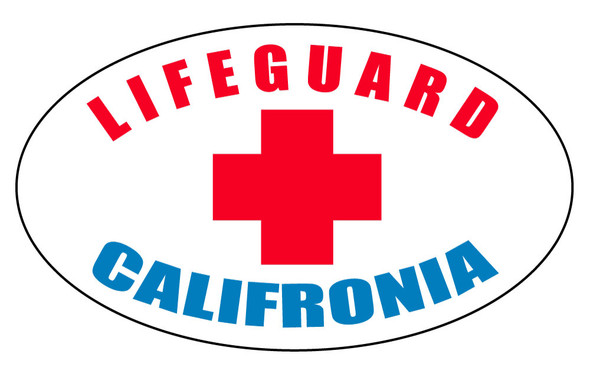 Lifeguard California Oval Sticker