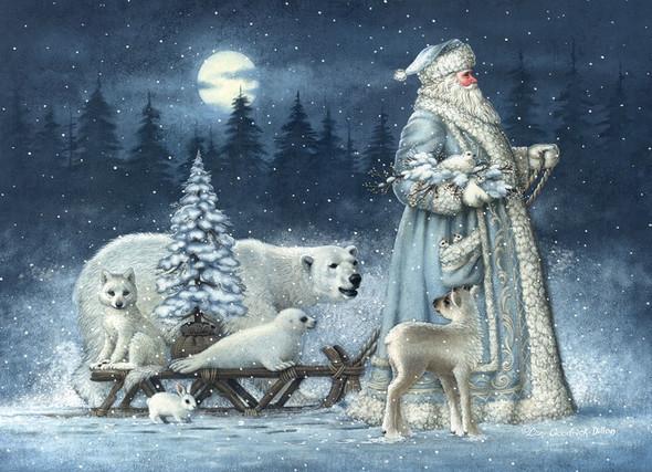 Polar Sled Santa & Friends Christmas Cards