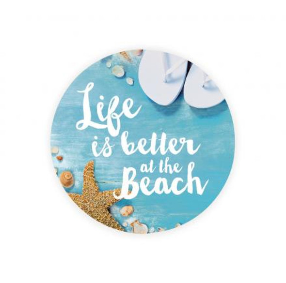 Life is Better at the Beach Car Coaster