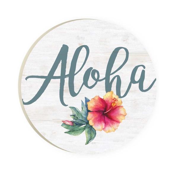 Aloha Hibiscus Car Coaster