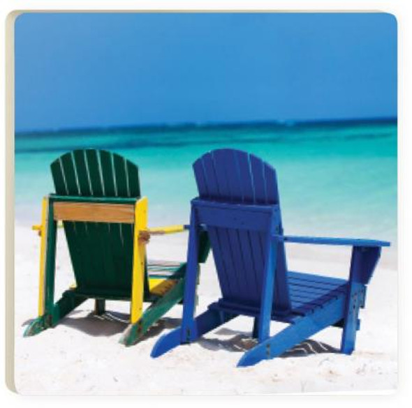 Beach Chairs Coaster