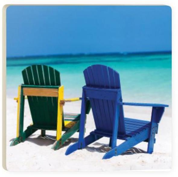 Beach Chairs Coaster