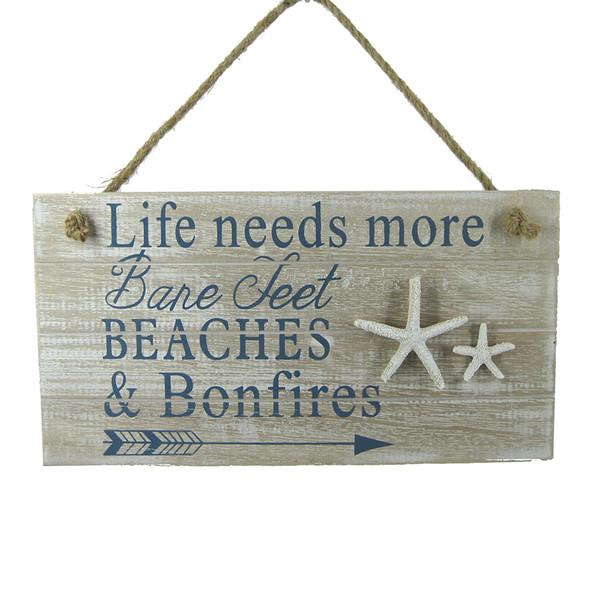 Beaches & Bonfire Wall Sign