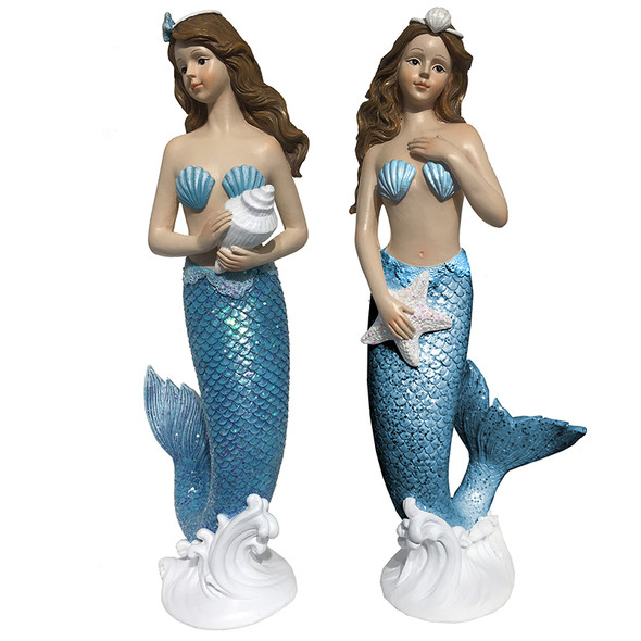 Blue Tail Mermaid Figure Set