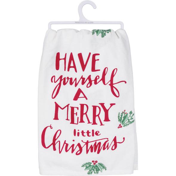 Merry Little Christmas Dish Towel