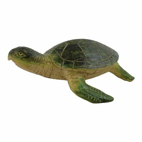 Small Green Turtle Figure