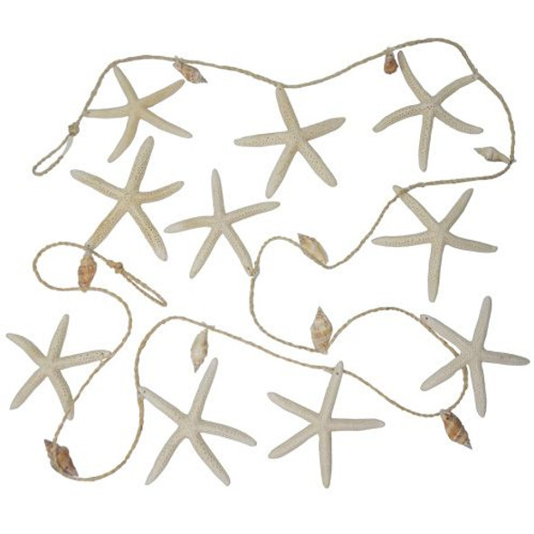 White Starfish Garland