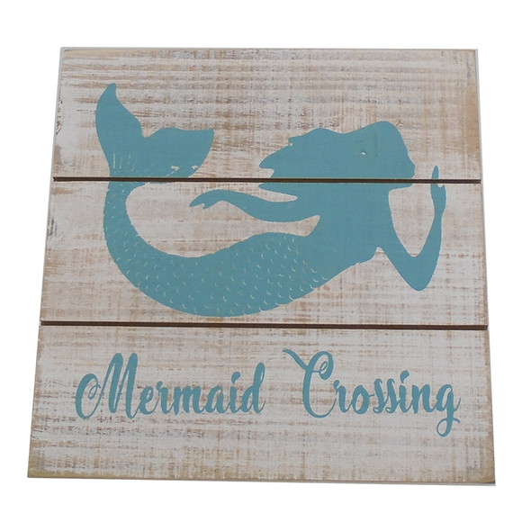Mermaid Crossing Easel Sign