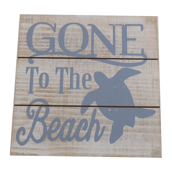 Gone to the Beach Turtle Easel Sign