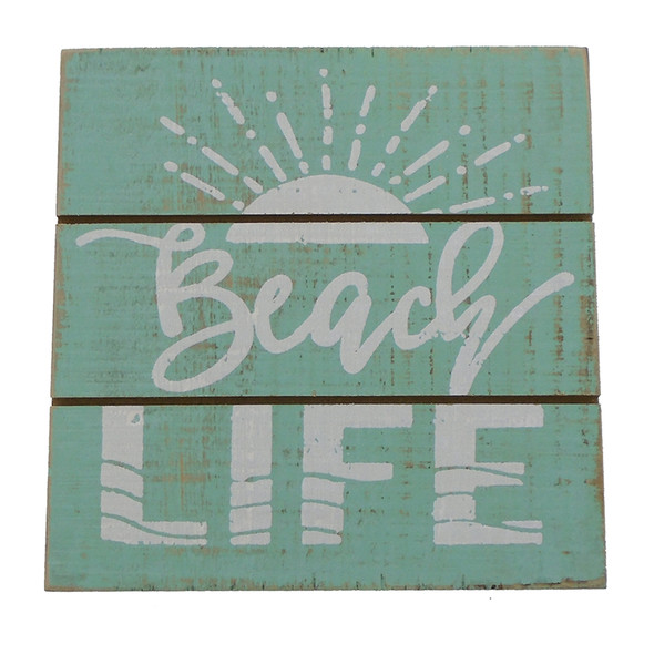 Beach Life Sun Easel Sign