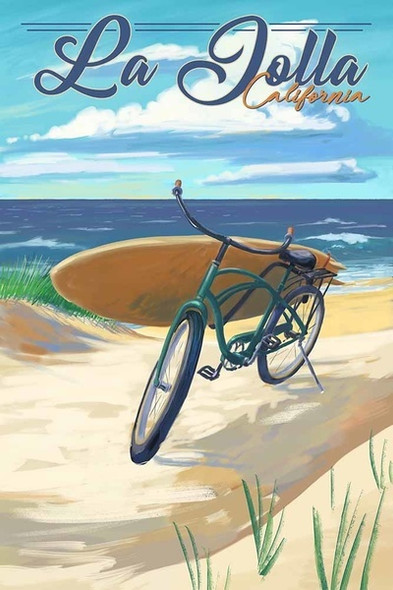 La Jolla Beach Cruiser Car Coaster