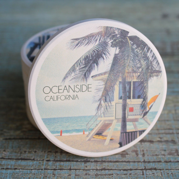 Oceanside Lifeguard Shack Car Coaster