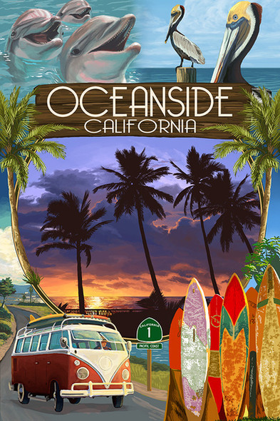 Oceanside Montage Car Coaster