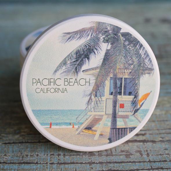 Pacific Beach Lifeguard Shack Car Coaster