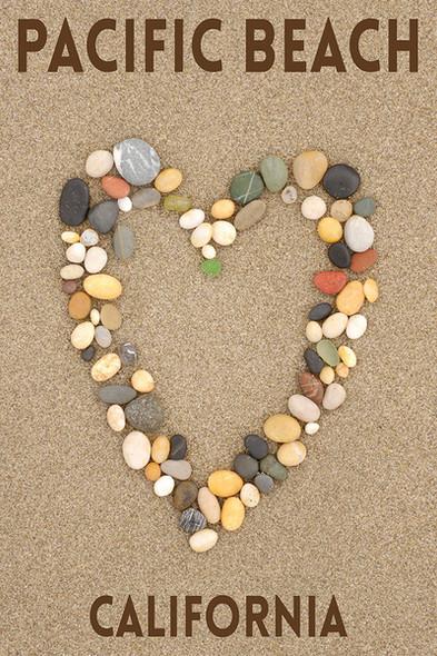 Pacific Beach Stone Heart Car Coaster