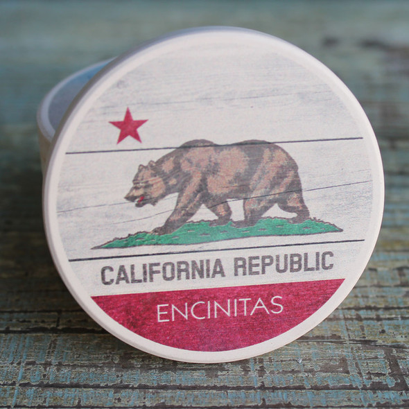 Encinitas CA Flag Car Coaster