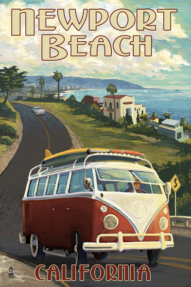 Newport Beach Van Cruise Car Coaster